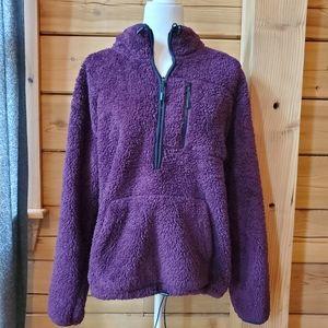 PINK Victoria's Secret Sherpa Pullover SZ LG